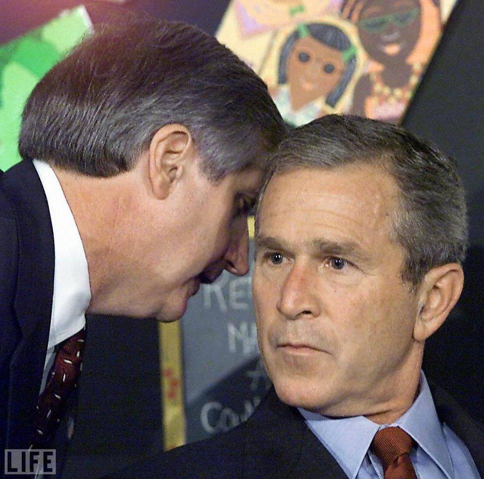 George Bush dowiaduje się o ataku na World Trade Center. (2001)