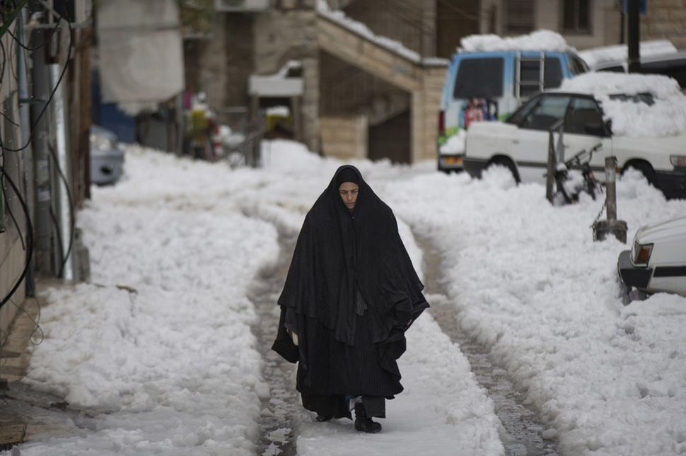 Na Bliskim Wschodzie, pierwszy raz od 100 lat, spadł śnieg. (2012)