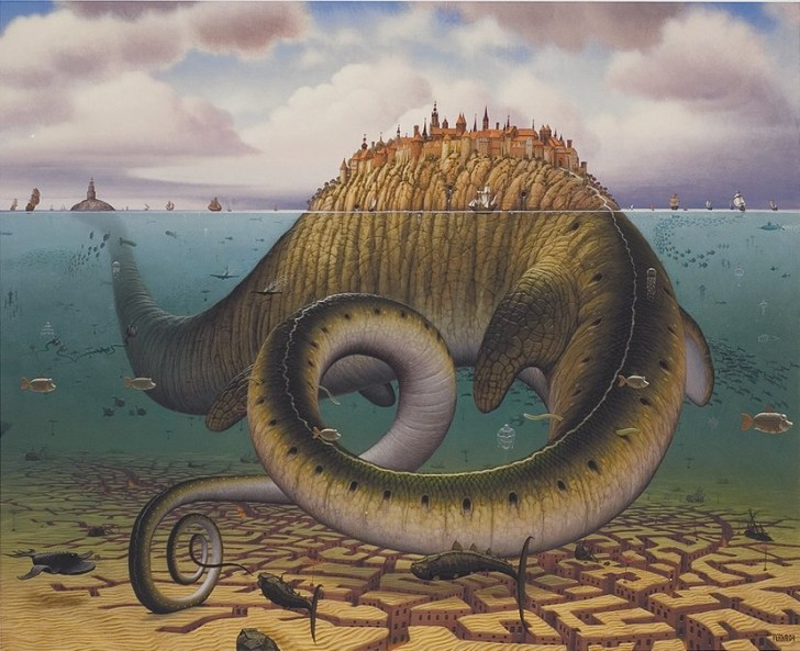 Brontosaurus civitas, 2004 / Jacek Yerka