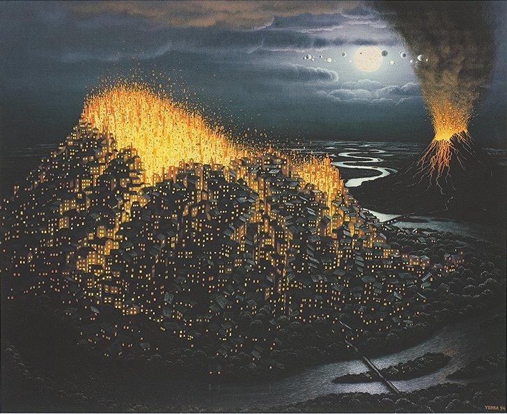 Erupcja, 1994 / Jacek Yerka