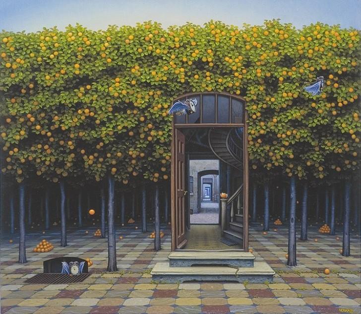 Gaj pomarańczowy, 2000 / Jacek Yerka