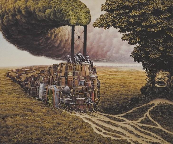 Green Age, 1994 / Jacek Yerka