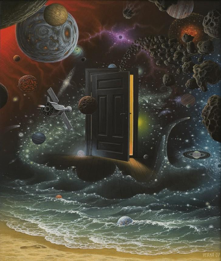 Na brzegu kosmosu, 2007 / Jacek Yerka