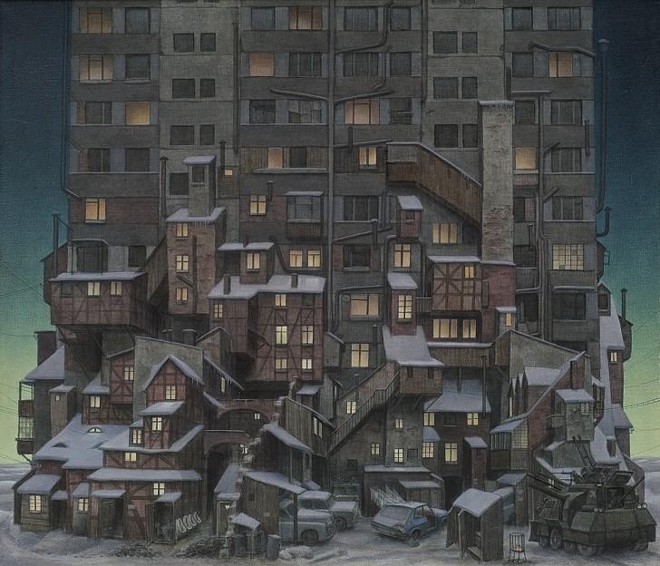 Spokój panuje w bloku, 1984 / Jacek Yerka