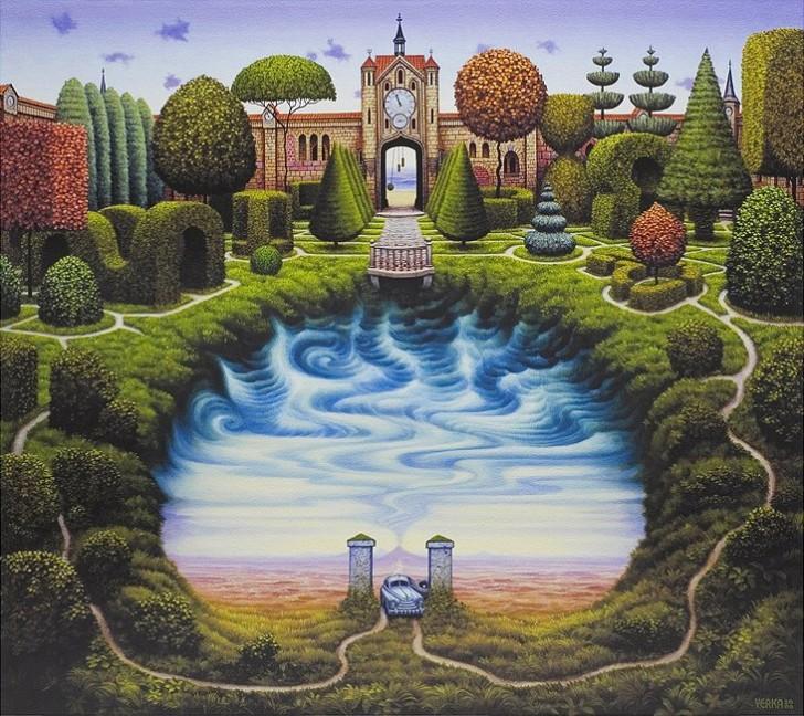 Tajemniczy ogród, 2000 / Jacek Yerka
