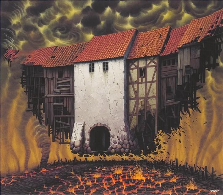 Wielki odlot, 1997 / Jacek Yerka