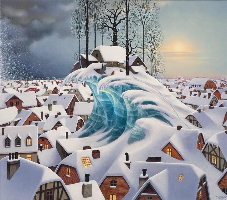 Zimowa fala, 2005 / Jacek Yerka