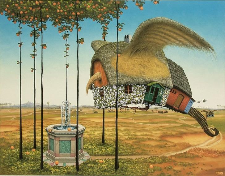 Domek przy źródle, 2004 / Jacek Yerka