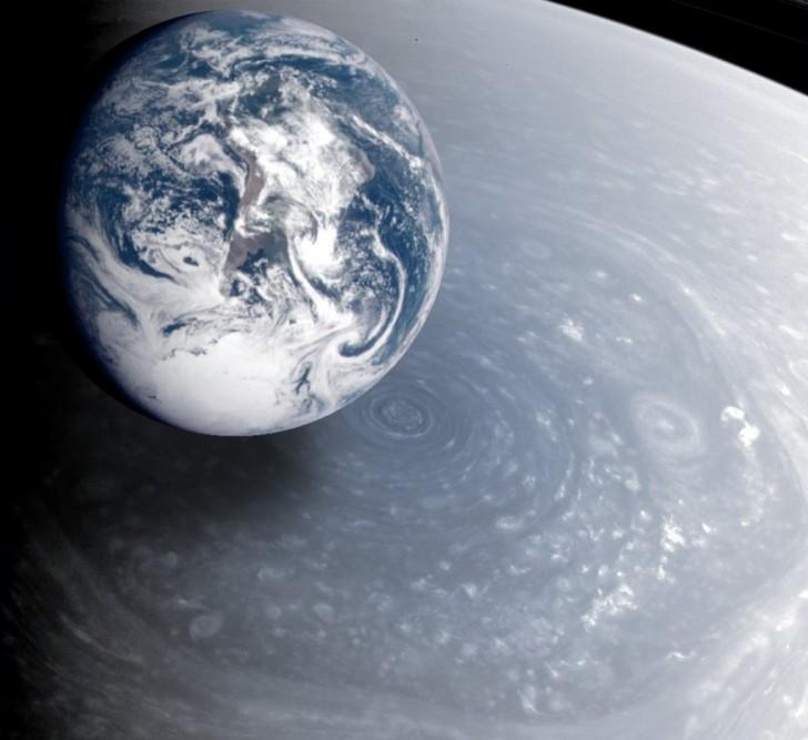 Bok sześciokąta ma mniej więcej 13,800 km długości, średnica Ziemi - ok. 12,700 km.