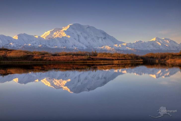 Wschód słońca nad górą McKinley