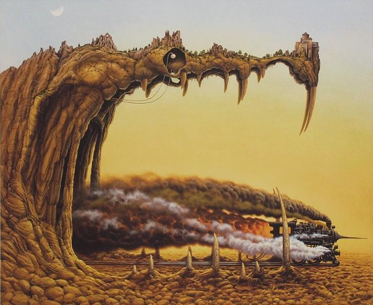 Przyjemności smoka, 1995 / Jacek Yerka