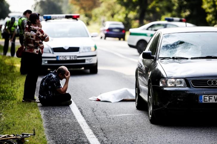 Litwa - mężczyzna w szoku po potrąceniu i zabiciu ośmiolatka.