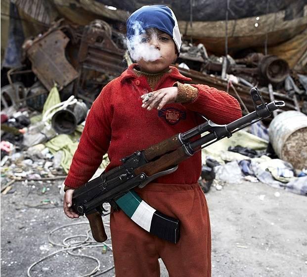 Syryjski siedmioletni rebeliant