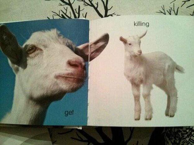 """Po szwedzku """"get"""" to """"koza"""", a """"killing"""" to """"dziecko""""."""