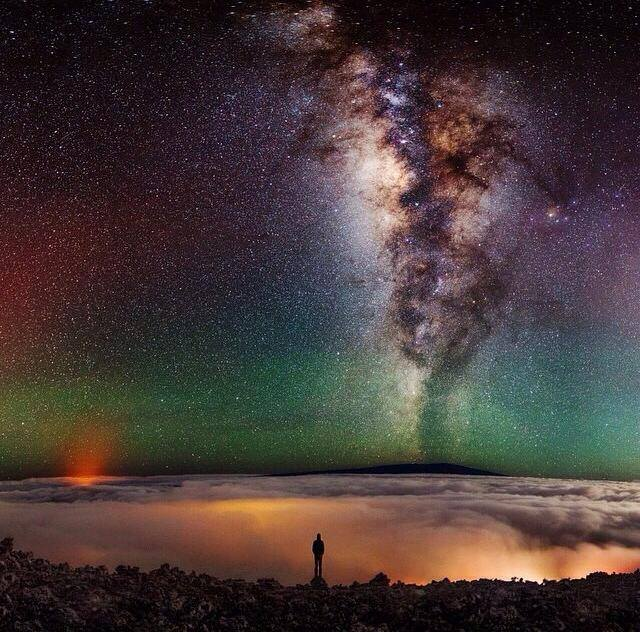 Droga Mleczna widziana z Hawajów