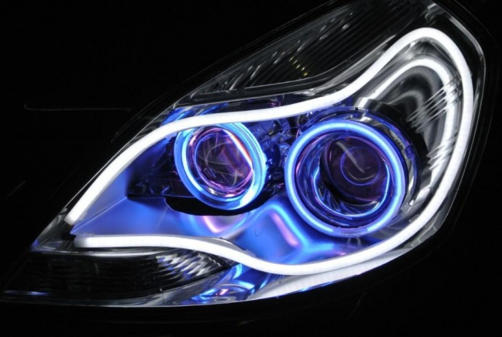 NEW-free-shipping-60CM-Car-Headlight-LED-strip-light-daytime-running-light-turning-light-car-light