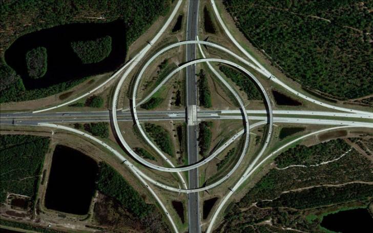 Węzeł autostradowy, Floryda, USA