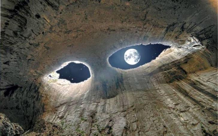 Oczy Boga. Jaskinia Prohodna, Bułgaria