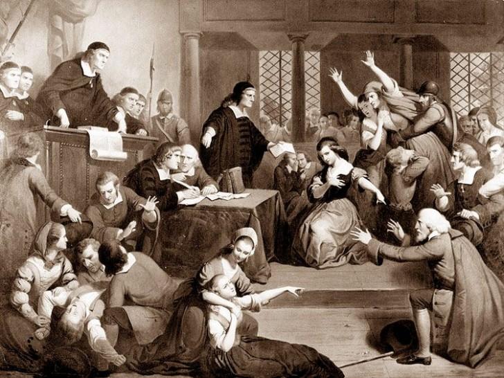 Proces w Salem na obrazie Tompkinsa Harrisona Mattesona, 1855