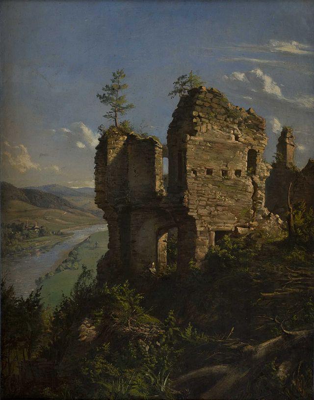 Ruiny Zamku Sobień autorstwa Andrzeja Grabowskiego, wikipedia.org