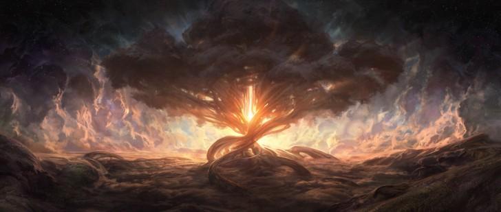 Niesamowite wyobrażenie drzewa życia autorstwa Noah Bradleya