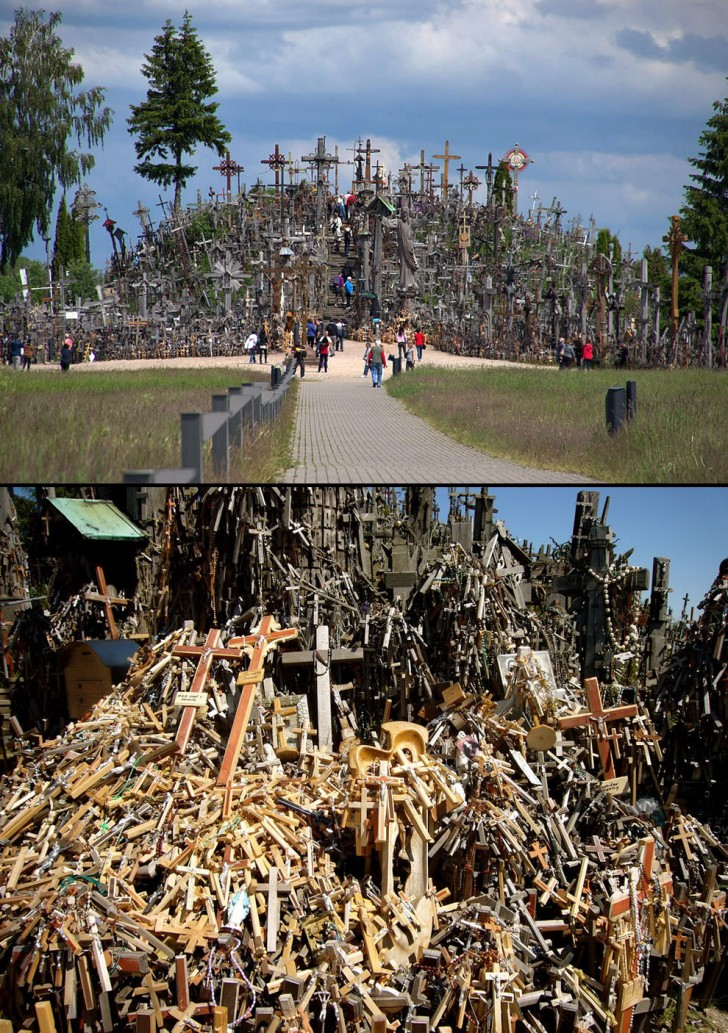 Pilgrams-at-the-Hill-of-Crosses-Lithuania2