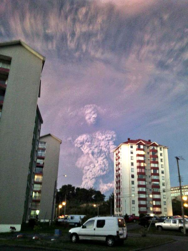 Wulkan Calbuco w Chile