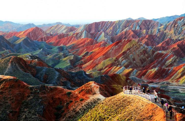 Rzeźba terenu w parku Gansu, Chiny