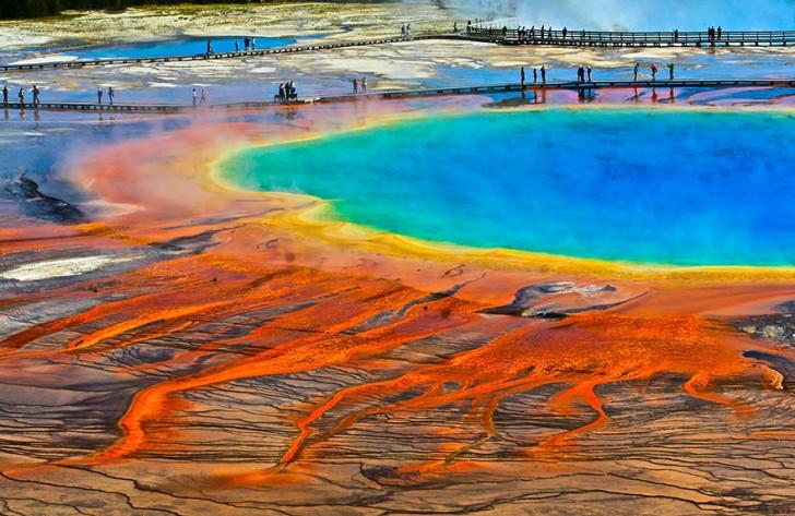 Źródło Grand Prismatic, Wyoming, USA