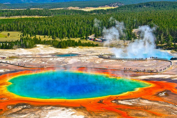 Źródło Grand Prismatic, Wyoming, USA