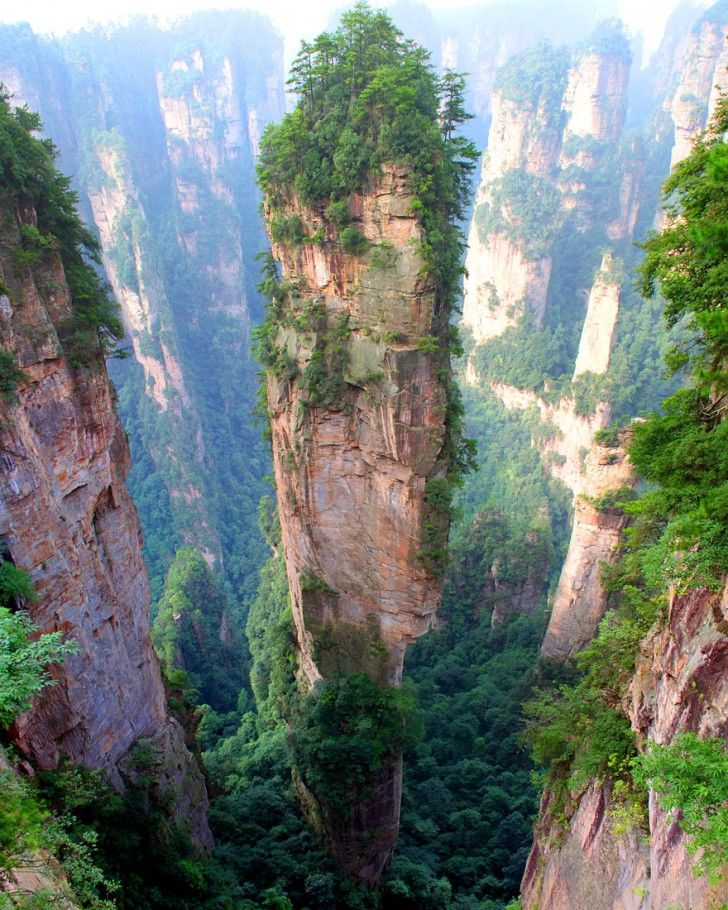 Góry Tianzi, Chiny