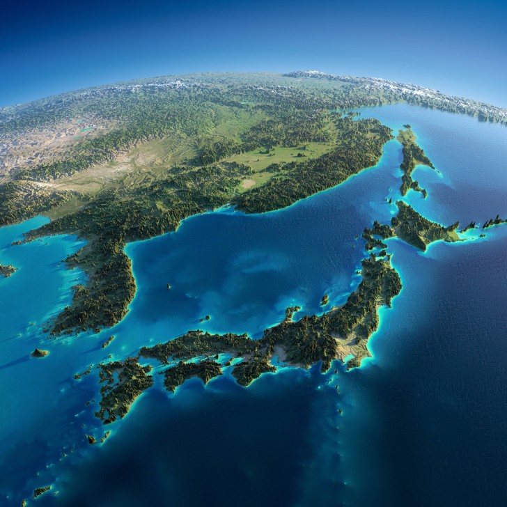Japonia, Korea i Chiny
