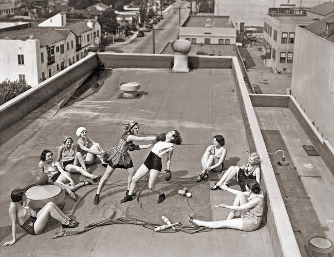 Kobiecy boks, 1930.