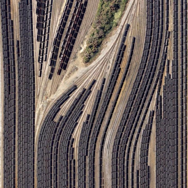 Zajezdnia pociągów towarowych w Norfolk, Wirginia, USA