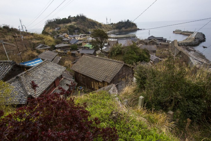 Główna część wioski rybackiej na wyspie