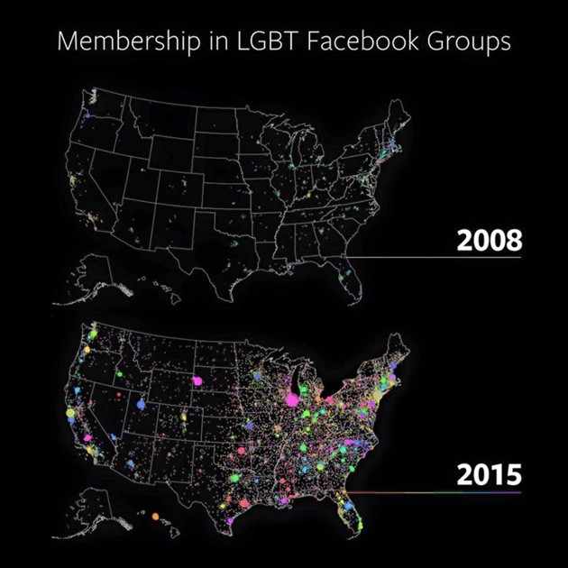 Przynależność do grup LGBT na Facebooku