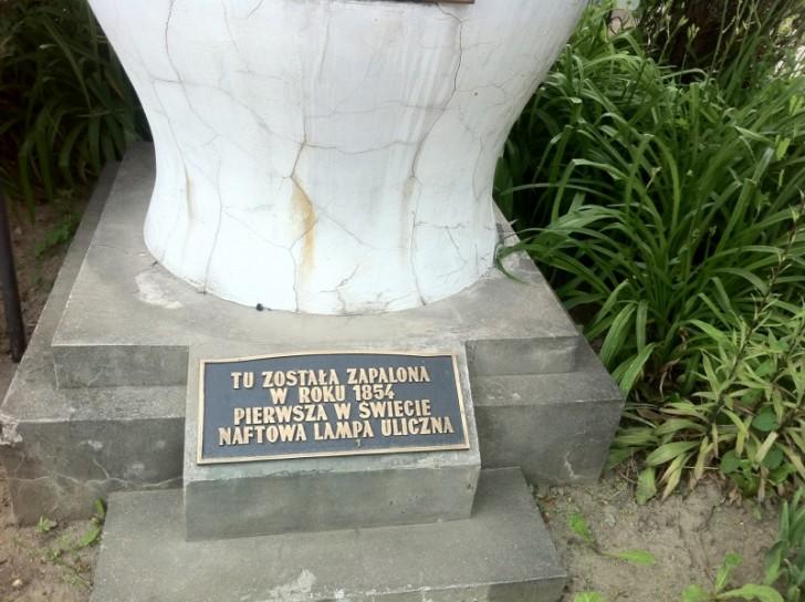 Pomnik pierwszej naftowej lampy ulicznej, Gorlice.