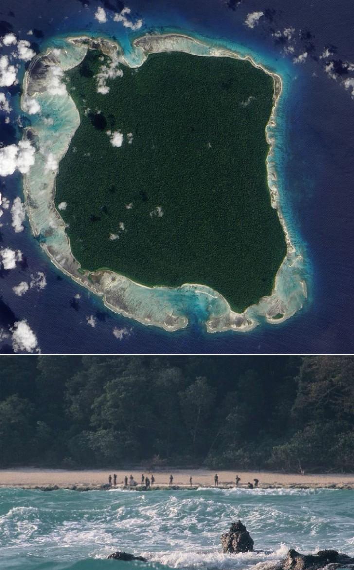 Wyspa North Sentinel (Indie), której mieszkańcy są jednym z ostatnich ludów nietkniętych współczesną cywilizacją i reagują bardzo wrogo na wszelkie próby kontaktu