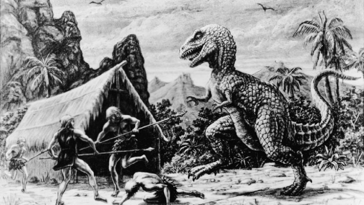 Dinosaur-and-Man-Coexisted-Myth