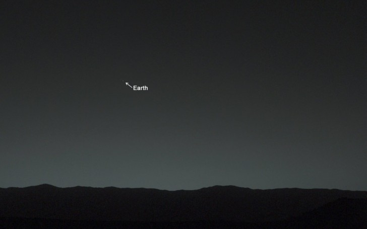 nasas-curiosity-rover-shared-its-very-first-picture-of-earth-from-mars-the-photo-was-taken-about-80-minutes-after-sunset-on-jan-31-2014-nasa-said-the-rover-tweeted-the-photo-with-the-accompa