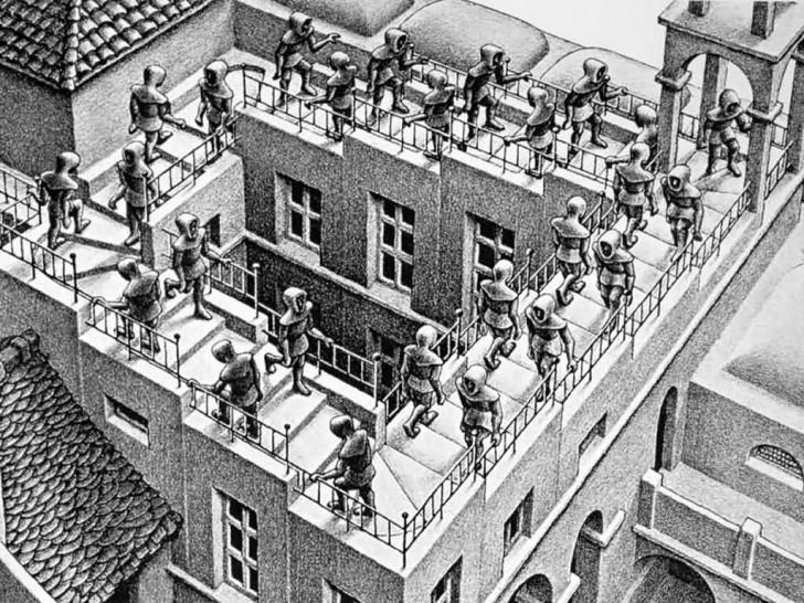 Spacer po niekończących się schodach. Znana iluzja optyczna zainspirowała architektów do stworzenia najbardziej niezwykłej klatki schodowej na świecie