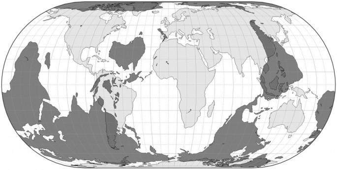 Mapa pokazuje, w którym miejscu na świecie skończyłbyś jeśli wykopane prosto przez