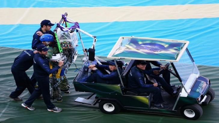 Ceremonia otwarcia Mistrzostw Pinto w egzoszkielecie przygotowuje się do wydarzenia. Zdjęcie: Getty Images