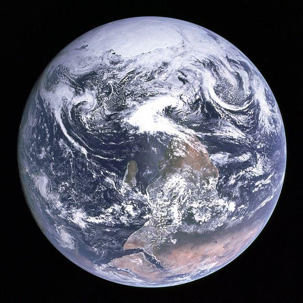 Początkowo na górze zdjęcia znajdował się biegun południowy. Zdjęcie wikipedia