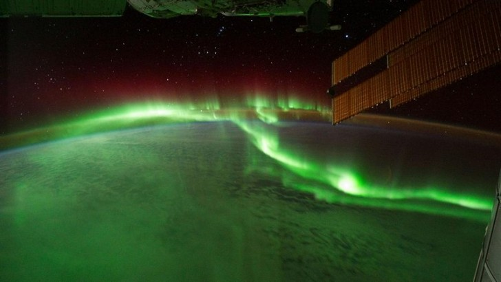 Zorza polarna. Zdjęcie wykonane w 2011 roku przez 29 ekspedycję NASA.
