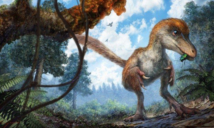 Rekonstrukcja dinozaura. Autor Chung-tat Cheung