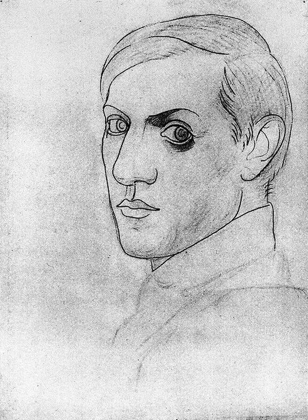picasso-self-portrait-35-years-old-1917