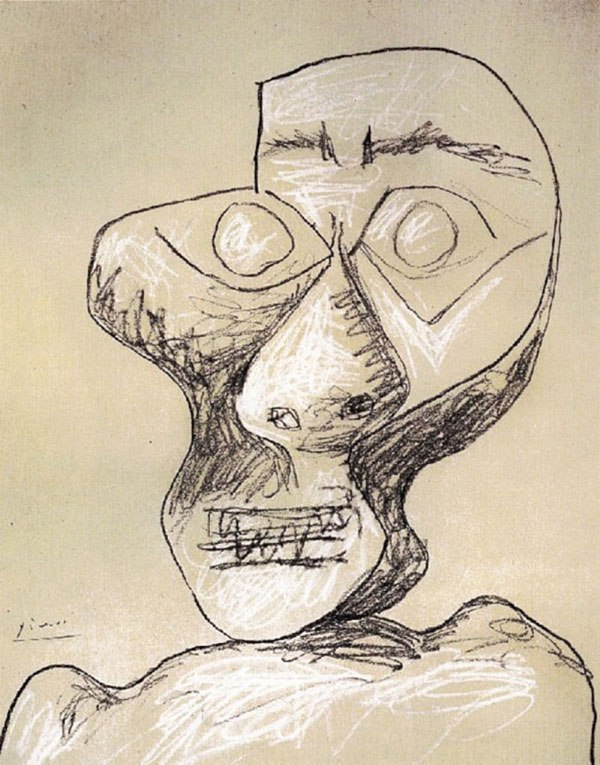 picasso-self-portrait-90-years-old-july-2-1972