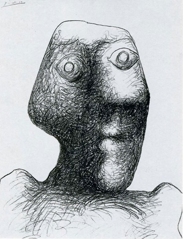 picasso-self-portrait-90-years-old-july-3-1972