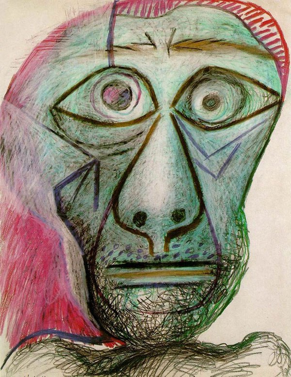 picasso-self-portrait-90-years-old-june-30-1972